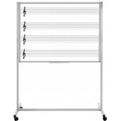 Müzik Çizgii Yazı Tahtası Laminat Tek Yüzlü Tekerli 90x120