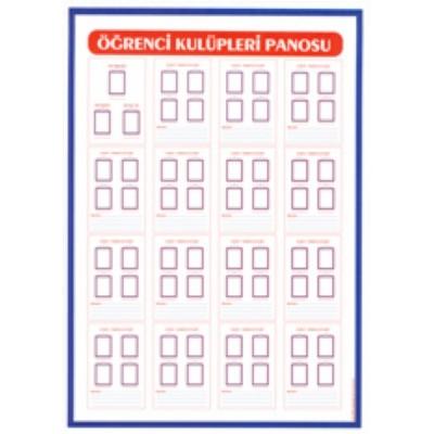 Kulüpler Panosu 50x70