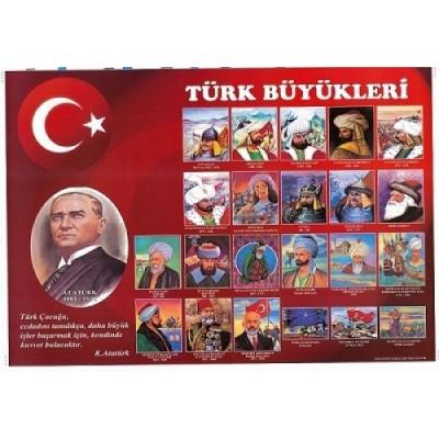 Türk Büyükleri Panosu 70x100
