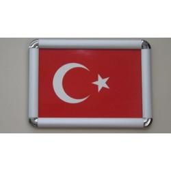 Türk Bayrağı Alüminyum Çerçeve A4