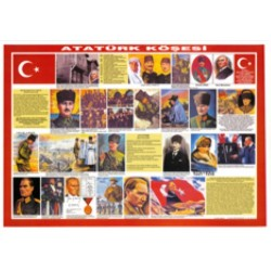 Atatürk Köşesi Çıtalı 70x100 Selefonlu