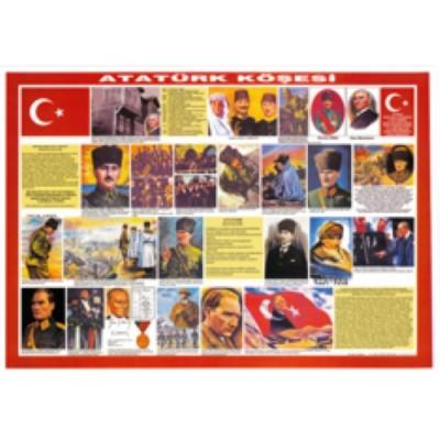 Atatürk Köşesi Çıtalı50x70
