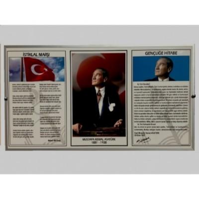 Milli Levha Alüminyum Çerçeveli 50x90