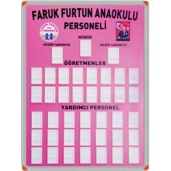 Personel Panosu Anaokulu