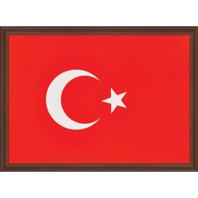 Türk Bayrağı Ahşap Çerçeve 20x30