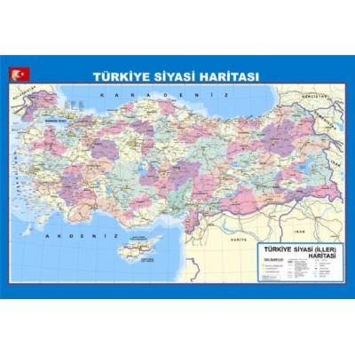 Turkiye Siyasi Fiziki Haritasi