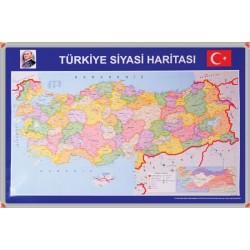 Türkiye Siyasi Haritası Alüminyum Çerçeveli