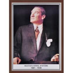 Atatürk Portresi Ahşap Çerçeve 35x50