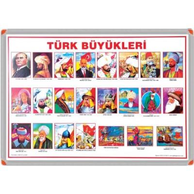 Türk Büyükleri Metal Çerçeve 70x100