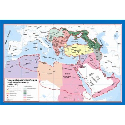 Osmanlı İmaparatorluğu Gerileme Dönemi Haritası