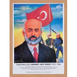 Türk Büyükleri Seti 23 Adet Ahşap Çerçeve 35x50