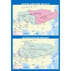 Asyada Göktürk Ve Kutluk Devleteri Haritası