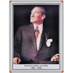 Atatürk Portresi Metal Çerçeve 35x50
