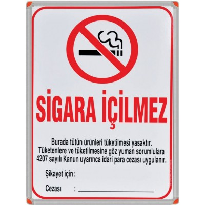 Sigara İçilmez Alüminyum Çerçeve 50x70