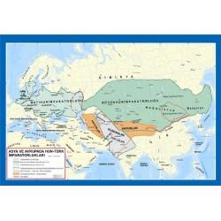 Asya Ve Avrupada Hun Türk İmparatorluğu Haritası