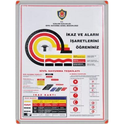 Alarm Ve İkaz İşareteri Metal Çerçeve 50x70